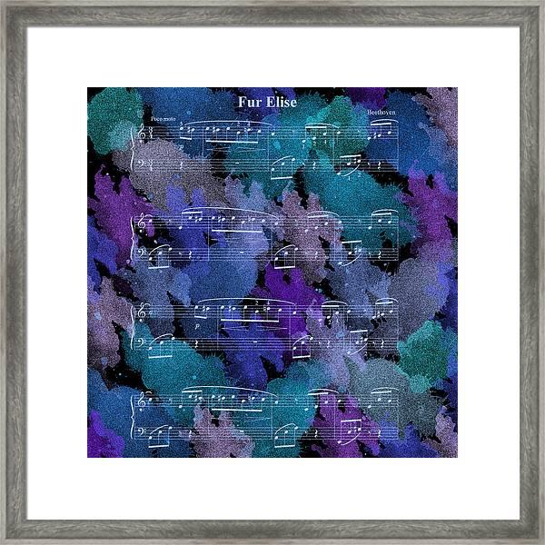 Fur Elise Music Digital Painting Framed Print