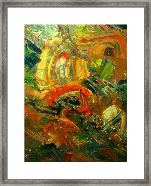 Framed Print featuring the painting Furious Brush by Ray Khalife