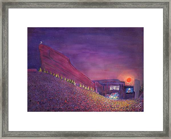 Furthur Red Rocks Equinox Framed Print