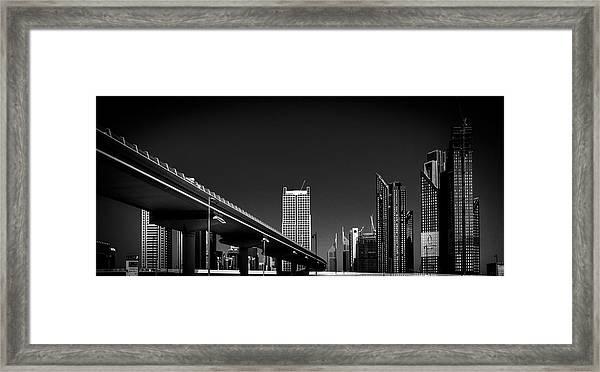 Future World Framed Print