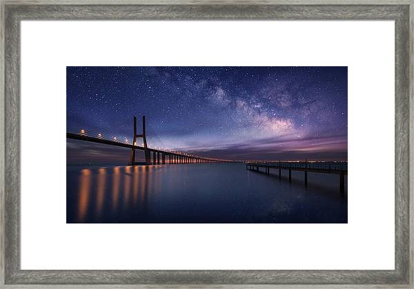 Galactic Bridge Framed Print