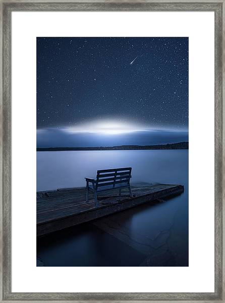 Galactic Impact Framed Print by Christian Lindsten