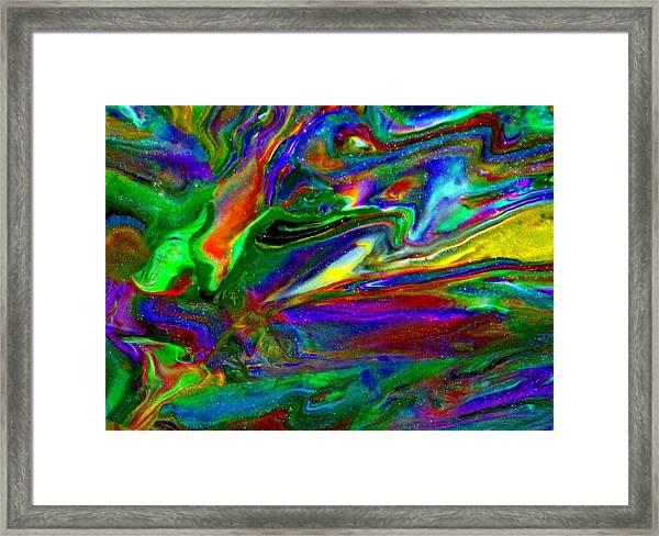 Galactic Storm Framed Print