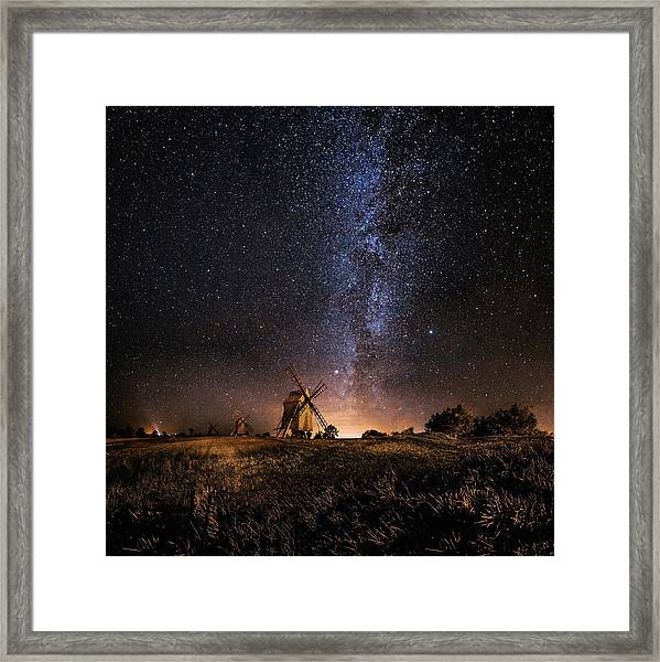 Galaxy Rising Framed Print by J?rgen Tannerstedt