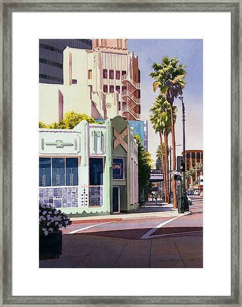 Gale Cafe On Wilshire Blvd Los Angeles Framed Print