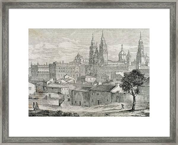 Galicia Santiago De Compostela Province Framed Print