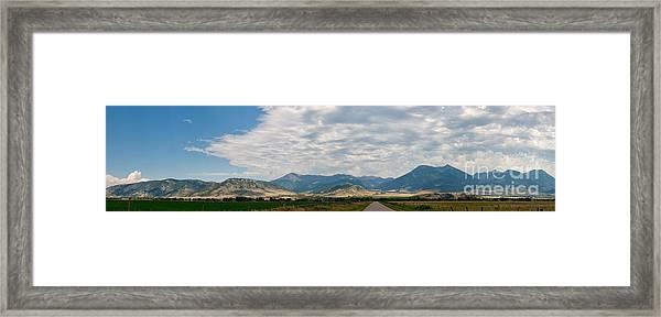 Gallatin Range Panoramic Framed Print