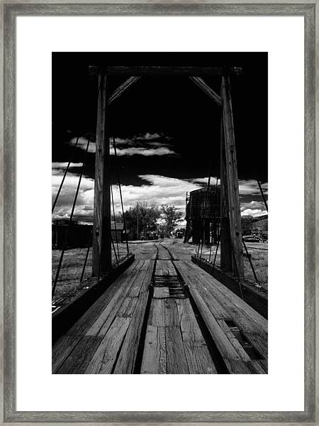 Gallows Gives Direction Framed Print