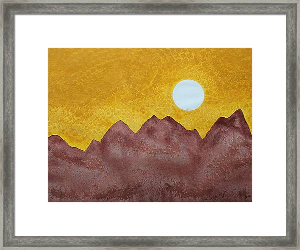 Gallup Original Painting Framed Print