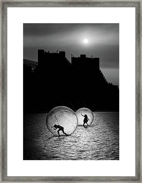Games In A Bubble Framed Print