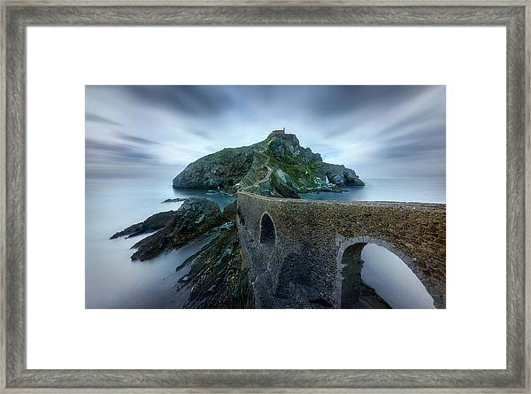 Games Of Thrones - Dragonstone Island -san Juan De Gaztelugatxe Framed Print by Jes?s M. Garc?a