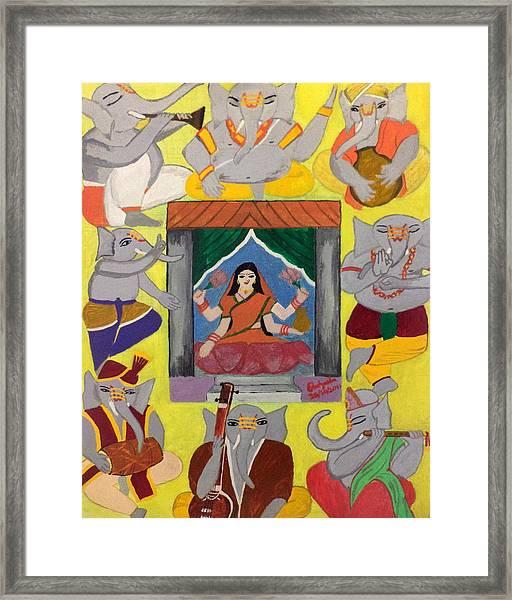 Ganesh Lakshmi Framed Print