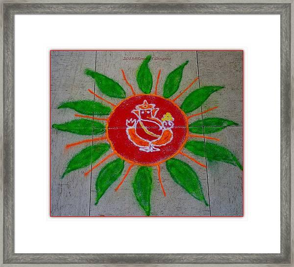 Ganesh Rangoli Framed Print