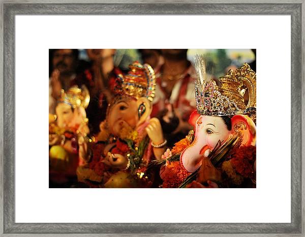 Ganesha Bokeh Framed Print