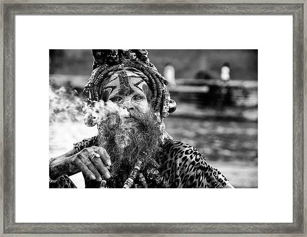 Ganga Baba Framed Print