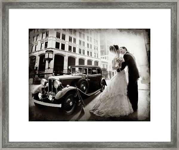 Gangster Wedding Framed Print
