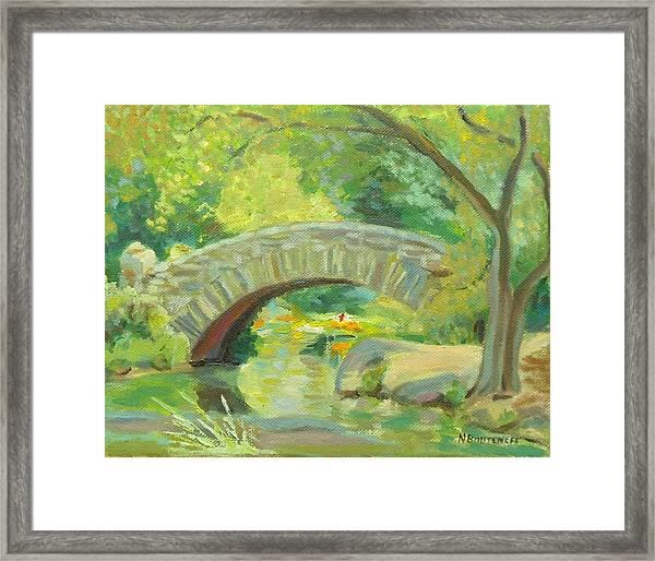 Gapstow Bridge Ny Framed Print