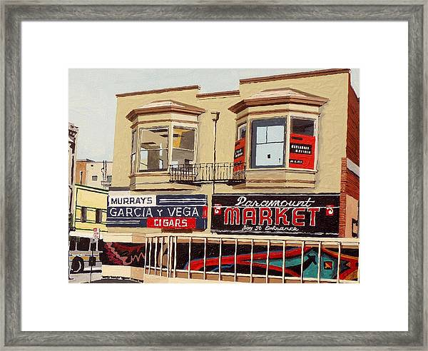 Garcia Y Vega And Paramount Market Framed Print by Paul Guyer