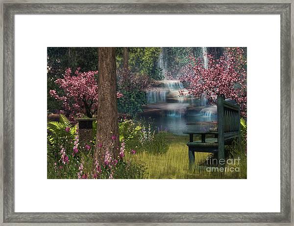 Garden Background Framed Print