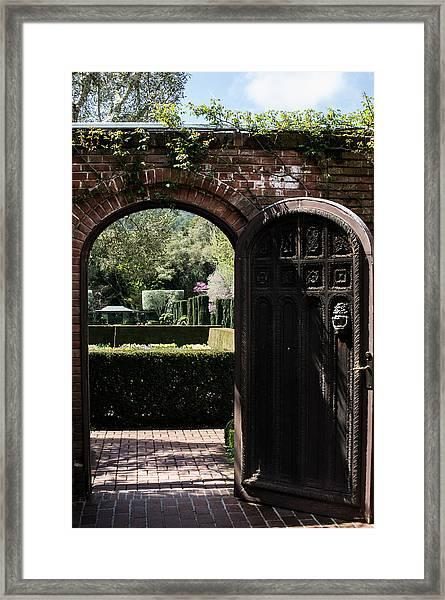 Garden Door At Filoli Framed Print