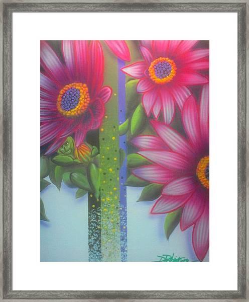 Garden Guardian Framed Print