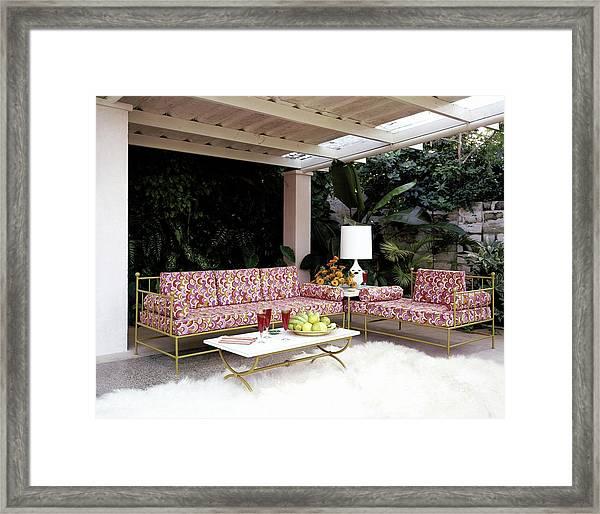 Garden-guest Room At The Chimneys Framed Print