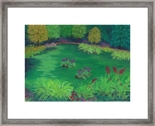 Garden In The Woods Framed Print