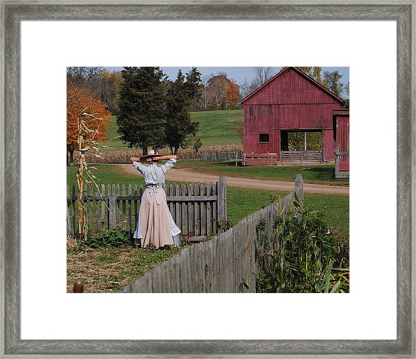 Garden Lady Framed Print