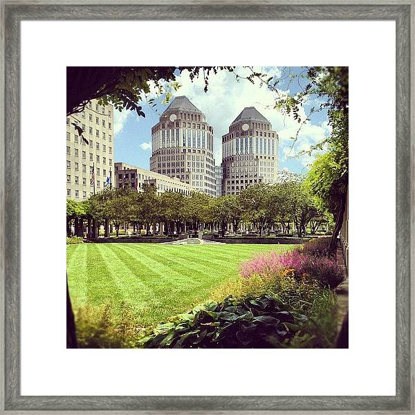 Garden Framed Print by Mike Maher