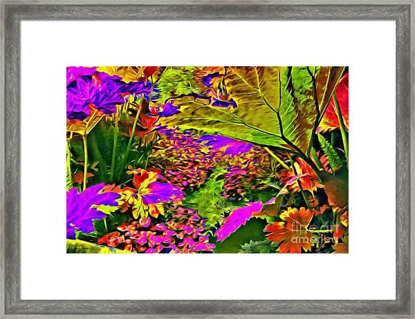 Garden Of Color Framed Print