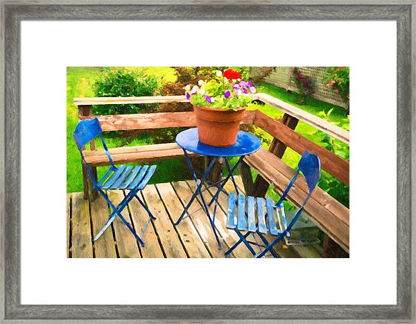 Framed Print featuring the photograph Garden Party by Garvin Hunter
