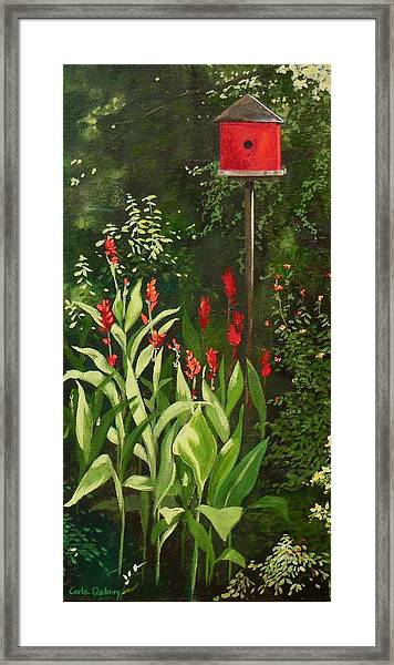 Garden Reds Framed Print by Carla Dabney