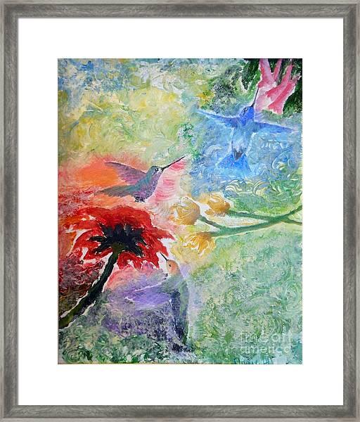 Garden Song Framed Print
