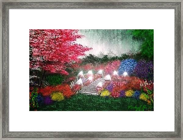 Garden Terrace Framed Print