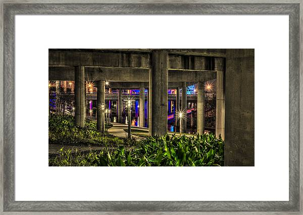 Garden Under The Bridge Framed Print
