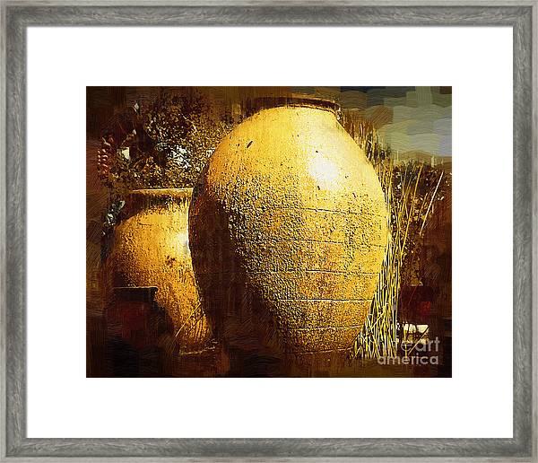 Garden Urns Framed Print