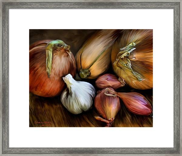Garden Vegetables  Framed Print