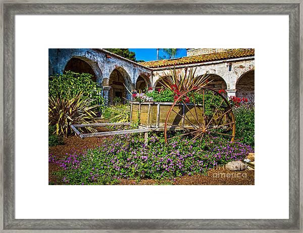 Garden Wagon Framed Print