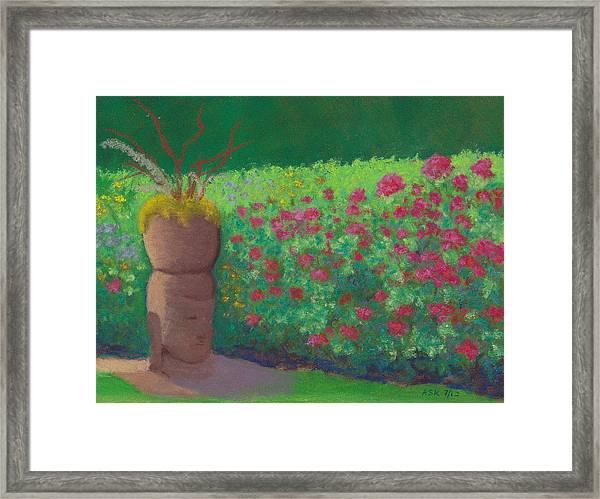 Garden Welcoming Framed Print