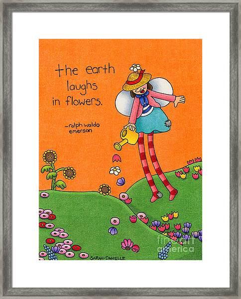 Gardener Angel Framed Print