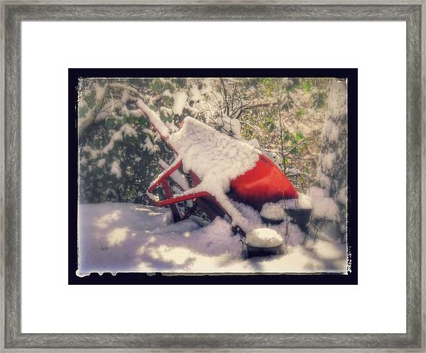 Gardener's Winter Dream Framed Print