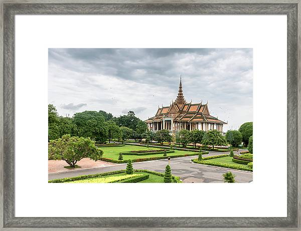 Gardens At The Royal Palace In Phnom Framed Print
