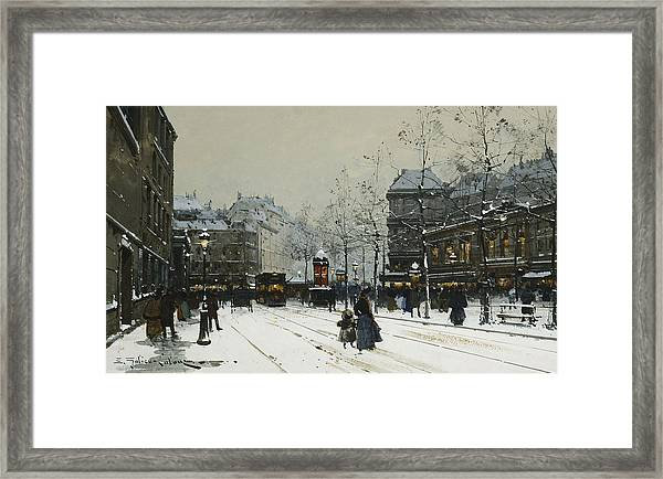 Gare Du Nord Paris Framed Print