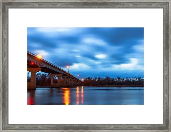 Garrison Ave. Bridge Framed Print