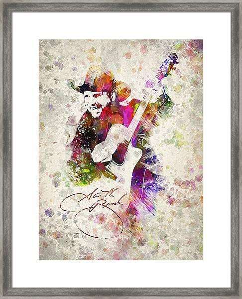 Garth Brooks Framed Print