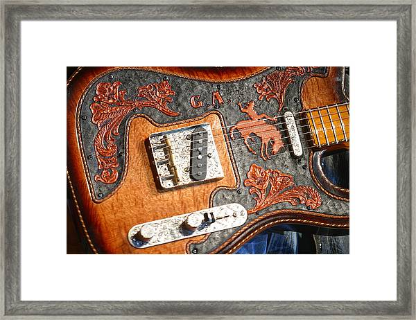 Gary Allan's Guitar Framed Print