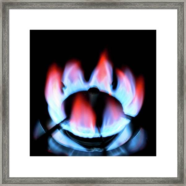 Gas Flame Framed Print