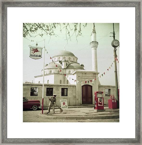 Gas Station In Turkey Framed Print