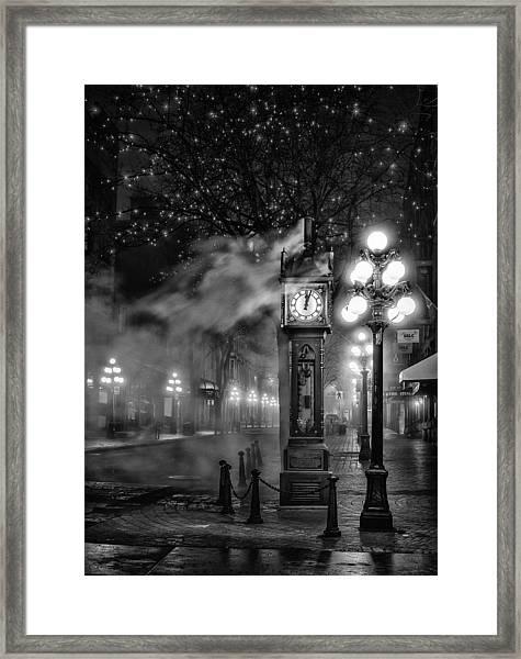 Gastown Steam Clock Framed Print