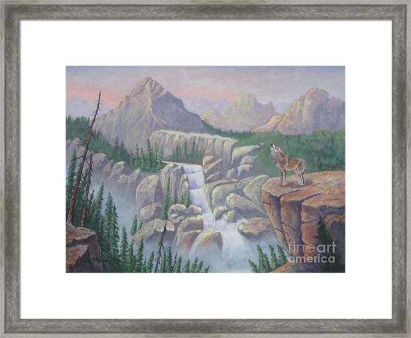 Gate Keeper Of The Canyon Framed Print
